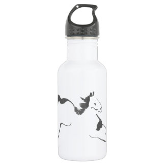 Sprint, a Galloping Horse, sumi-e Stainless Steel Water Bottle