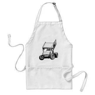 Sprint Car 1 Adult Apron