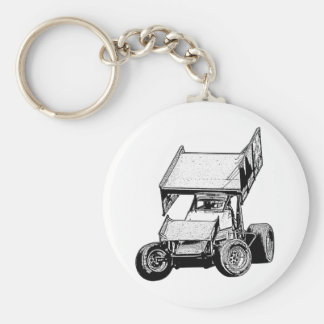 Sprint Car 1 Keychain