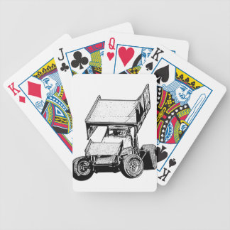 Sprint Car 1 Bicycle Poker Cards