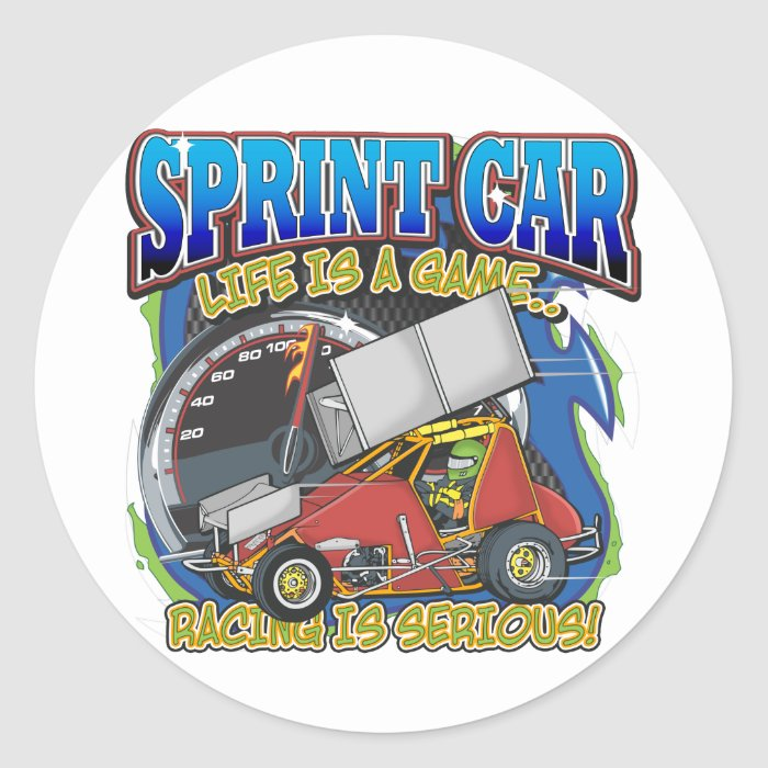 Sprint Car Life Classic Round Sticker