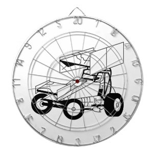 car dart boards equipments zazzle Chevrolet Dart sprint car outline dartboard