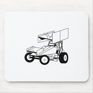 Sprint Car Outline Mouse Pad