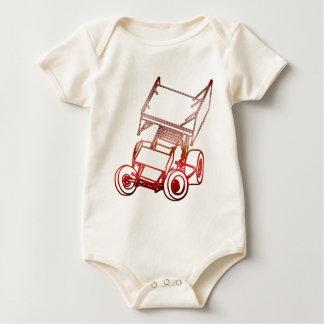 Sprint Car Skewed/Sunset Baby Bodysuit