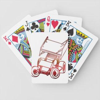 Sprint Car Skewed/Sunset Bicycle Playing Cards