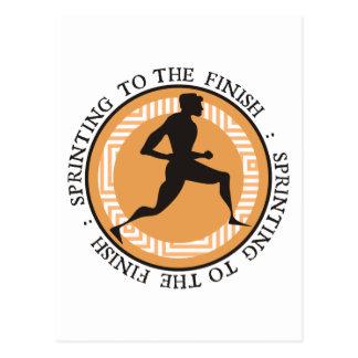 Sprint olímpico - Sprinting al final Postal