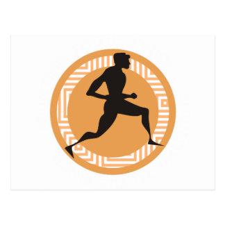 Sprint olímpico - Sprinting al final Tarjetas Postales