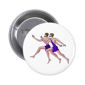 Sprint Runner Pinback Buttons