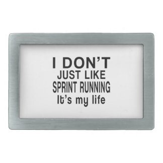 SPRINT RUNNING IS MY LIFE BELT BUCKLE