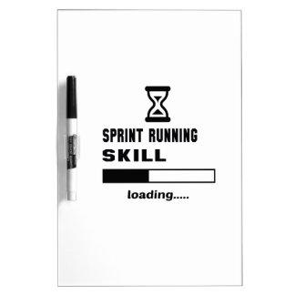 Sprint Running skill Loading...... Dry Erase Board