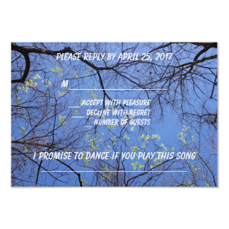 Sprint Trees Rsvp with Song Request Card