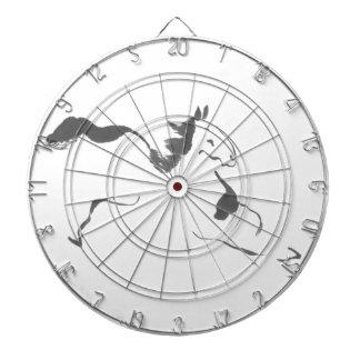 Sprint, un caballo galopante, sumi-e tablero dardos
