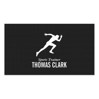 Sprinter   Sports Trainer (carbon pattern) Business Card