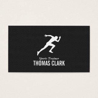 Sprinter | Sports Trainer (carbon pattern) Business Card