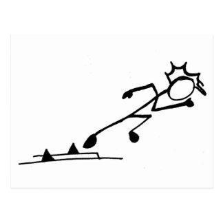 Sprinter Stickman Track and Field Postcard