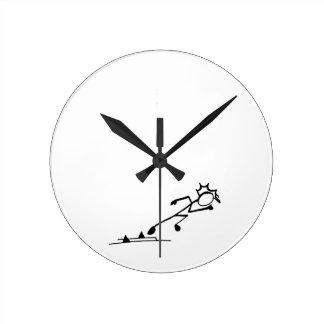 Sprinter Stickman Track and Field Round Clock
