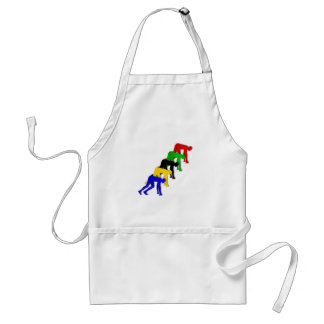 Sprinters on your marks get set go sprinting adult apron