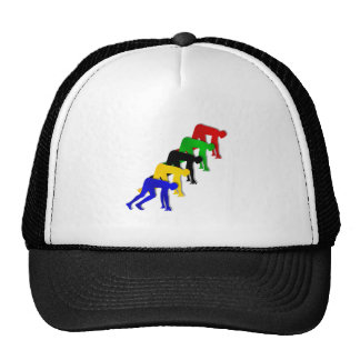 Sprinters on your marks get set go sprinting trucker hats