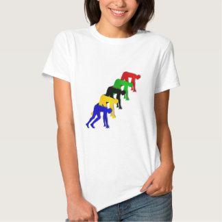 Sprinters on your marks get set go sprinting t shirt