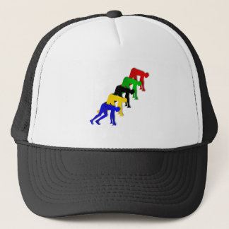 Sprinters on your marks get set go sprinting trucker hat