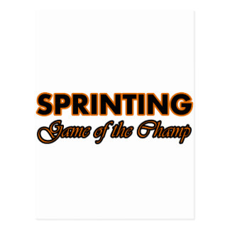 sprinting design postcard