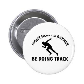 sprinting designs pinback button
