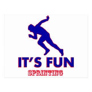 sprinting designs postcard