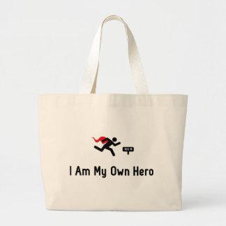 Sprinting Hero Large Tote Bag