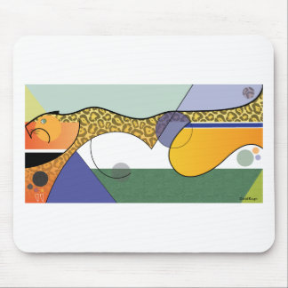 Sprinting Jaguar Design Mouse Pad
