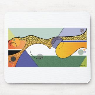 Sprinting Jaguar Design Mouse Pad