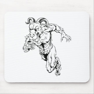 Sprinting ram character mouse pad