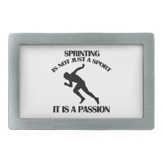 SPRINTING  sports designs Rectangular Belt Buckle