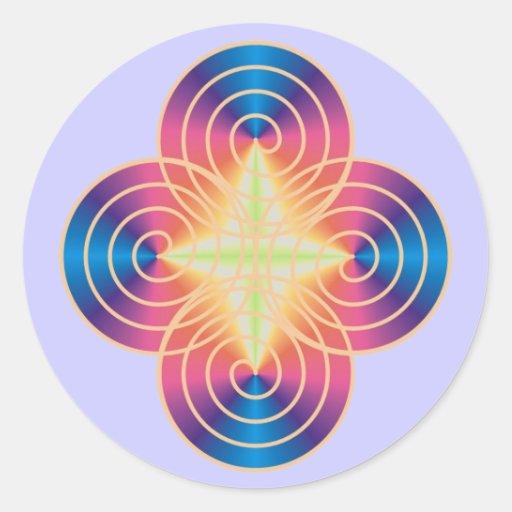 Spriral prism stickers