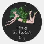 Sprite 2 del día de St Patrick - hada verde Etiqueta Redonda