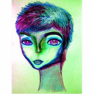 Sprite colors alien pin statuette