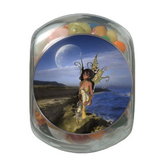 Sprite Contemplation Jelly Belly Candy Jar
