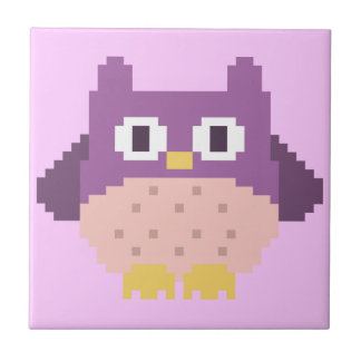 Sprite de 8 bits del búho del pixel azulejos