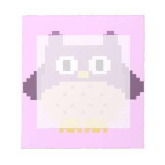 Sprite de 8 bits del búho del pixel blocs de notas