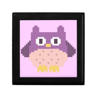 Sprite de 8 bits del búho del pixel caja de joyas