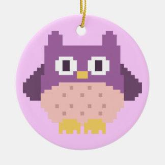 Sprite de 8 bits del búho del pixel ornamentos para reyes magos