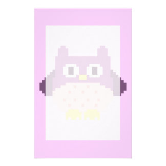 Sprite de 8 bits del búho del pixel papeleria de diseño