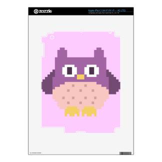 Sprite de 8 bits del búho del pixel iPad 3 pegatina skin