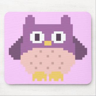 Sprite de 8 bits del búho del pixel tapetes de ratón