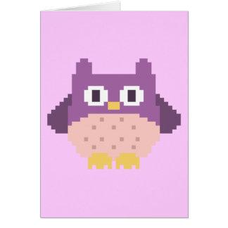 Sprite de 8 bits del búho del pixel tarjetas