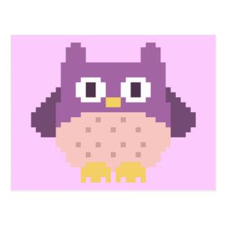 Sprite de 8 bits del búho del pixel postal