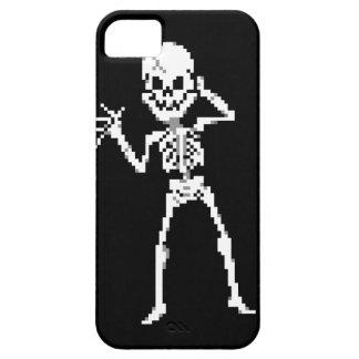 Sprite de 8 bits del esqueleto del pixel funda para iPhone SE/5/5s