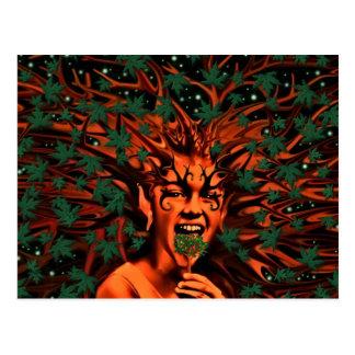 Sprite encantado w/Leaves del árbol Postal