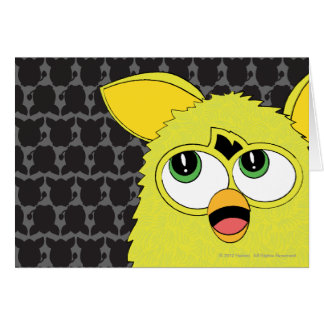 Sprite Yellow Furby Greeting Card