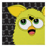 Sprite Yellow Furby Poster