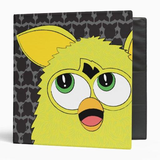 Sprite Yellow Furby Vinyl Binder